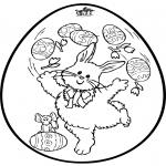 Tema - Ovo de Páscoa - Cartão de picotar 2