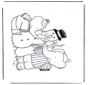 Página da coloração do boneco de neve 1