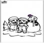 Página da coloração do boneco de neve 2