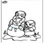 Página da coloração do boneco de neve 3