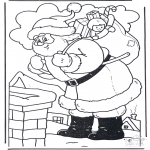 Natal - Pai Natal cerca da chaminé