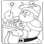 Natal - Pai Natal com o staff