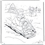 Inverno - Pai no sledge