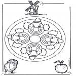 Pinturas Mandala - Palhaço mandala