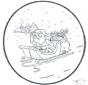 Papai Noel - Cartão de picotar