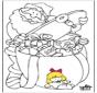 Papai Noel - Desenhos para Colorir 1