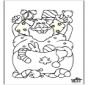 Papai Noel - Desenhos para Colorir 2
