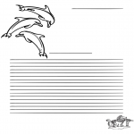 Ofícios - Papel de escrita golfinho
