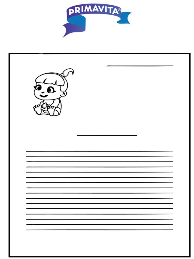 Papel para escrever - Primavita bebê - Escrevendo papel