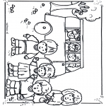 Crianças - Para a escola de autocarro