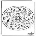 Pinturas Mandala - Pássaros Mandala