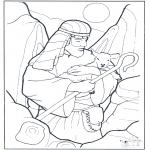 Pinturas bibel - Pastor e ovelha
