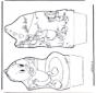 Pato Donald - Cartão de picotar 5