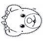 Pequena máscara de urso