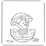 Personagens de banda desenhada - Pequeno porco em ovo de Páscoa