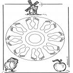 Pinturas Mandala - Pés mandala