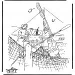 Pinturas bibel - Pesca de Discípulos