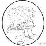 Inverno - Picotar de Cartão de Inverno 1