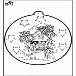 Natal - Picotar de Cartão de José e Maria