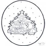 Natal - Picotar de Cartão de Natal 1