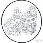Natal - Picotar de Cartão de Natal 10