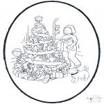 Natal - Picotar de Cartão de Natal 11