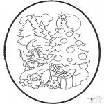 Natal - Picotar de Cartão de Natal 12