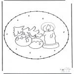 Natal - Picotar de Cartão de Natal 16