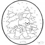 Natal - Picotar de Cartão de Natal 18