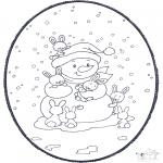 Natal - Picotar de Cartão de Natal 2