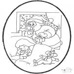 Natal - Picotar de Cartão de Natal 21