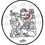 Natal - Picotar de Cartão de Natal 24