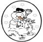 Picotar de Cartão de Natal 25