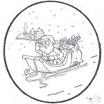 Natal - Picotar de Cartão de Natal 4