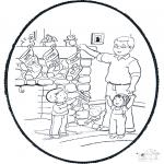Natal - Picotar de Cartão de Natal 6