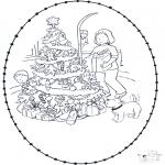 Natal - Picotar de Cartão de Natal 7