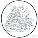 Natal - Picotar de Cartão de Natal 9