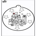 Natal - Picotar de Cartão de presente de Natal 1