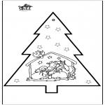 Natal - Picotar de Cartão de Presépio 2