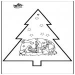 Natal - Picotar de Cartão de Presépio 3