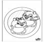 Pintura de Janela - Hamster