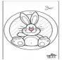 Pintura de Janela - Lapin de Pâques