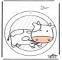 Pintura de Janela - vaca 1