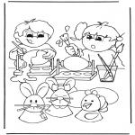 Tema - Pintura de ovos de Páscoa