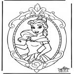 Personagens de banda desenhada - Princesa Disney Belle 1