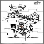 Ofícios - Puzzle do boneco de neve