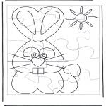 Tema - Puzzle do coelho de Páscoa 1