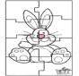 Puzzle do coelho de Páscoa 3