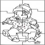 Tema - Quebra-cabeça do bebê
