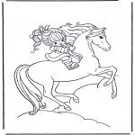 Animais - Rapariga a cavalo